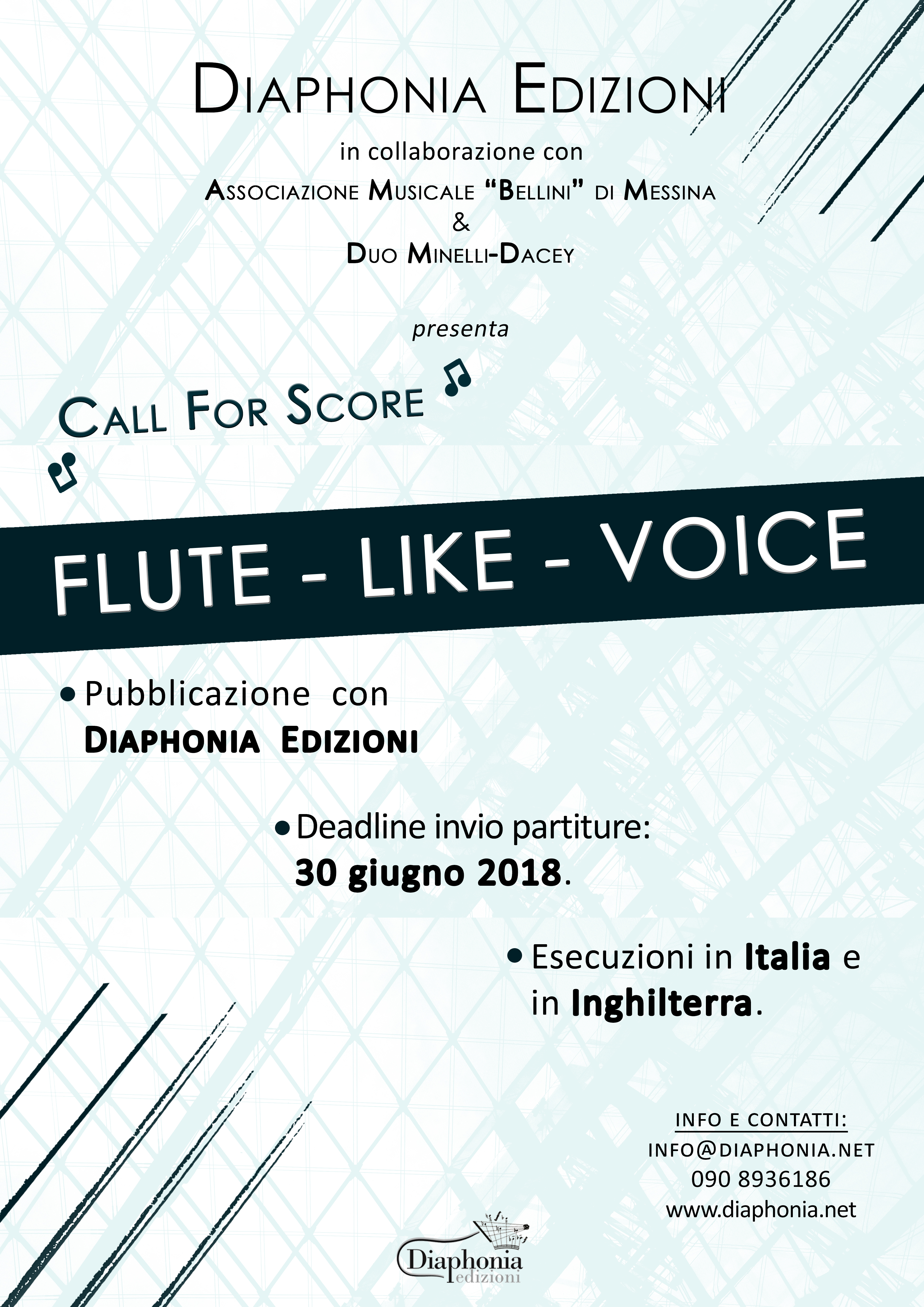 Call For Score Italiano 2018