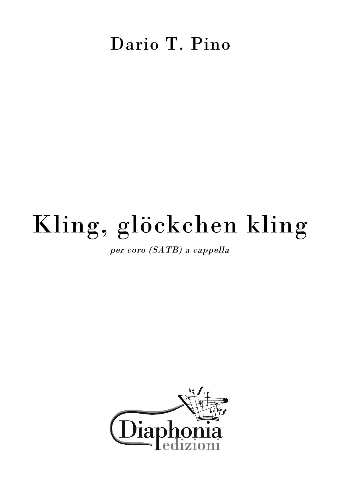 Innenarchitektur Kling Glöckchen Galerie Von Kling, Glockchen For Mixed Choir (satb) [digital]