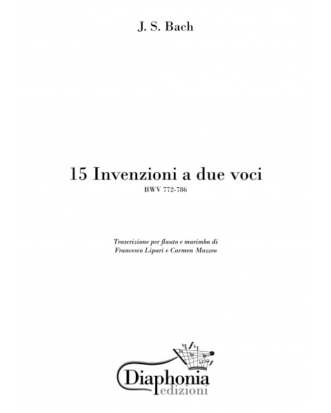 15 INVENZIONI A DUE VOCI (BWV 772-786) for flute and marimba