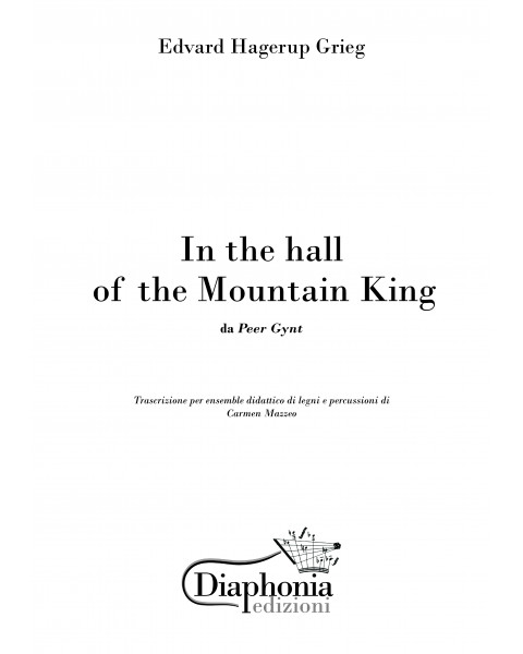 IN THE HALL OF MOUNTAIN KING (E. Grieg) per ensemble didattico di legni e percussioni