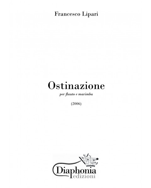 OSTINAZIONE for flute and marimba [Digital]