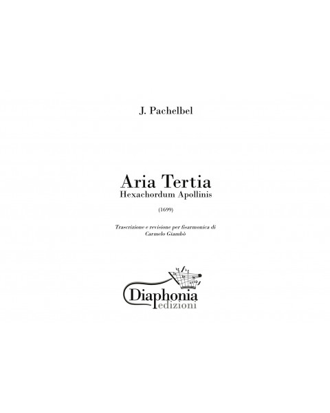 J. PACHELBEL - ARIA TERTIA for accordion