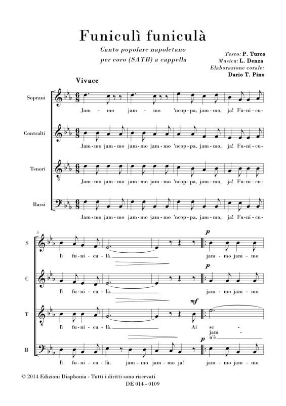 Poser Pino Dario Tindaro: Funiculi Funicula Sheet Music At Alzheimers-prions.com