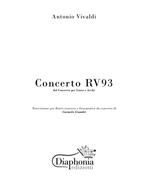 CONCERTO RV93 for flute and accordion